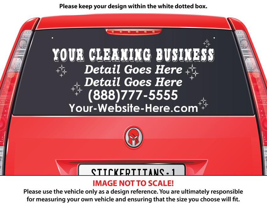 StickerTitans   Design It Yourself Truck, Car, Window Business Decal