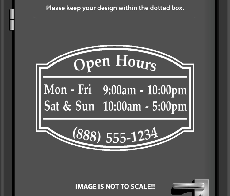 StickerTitans | Design It Yourself Custom Store Open Hours Templates