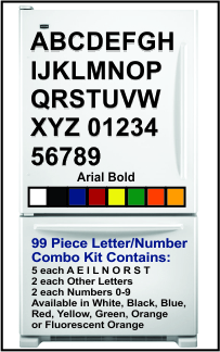 Magnetic Letter and Number Kits<BR>