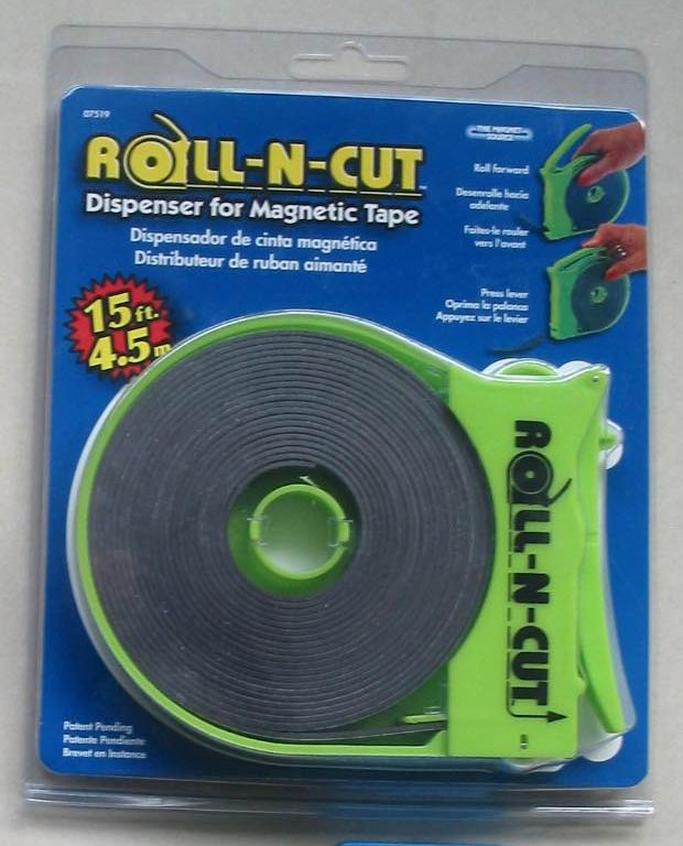 Roll N Cut Dispenser With Magnetic Tape