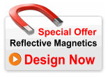 Reflective Full Colour Magnetic Sign 600mm x 250mm