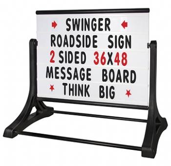 Swinger Roadside Message Board Sign