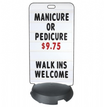 Tip 'N Roll Standard Message Board Sidewalk Sign