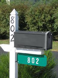 Aluminum Address Sign