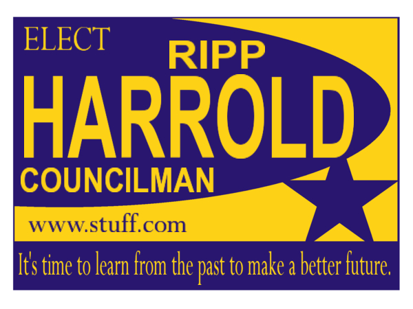 ELECTION SIGN 105