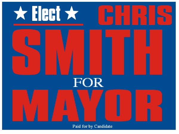 ELECTION SIGN 20