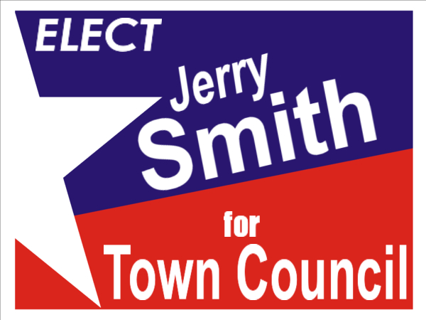 ELECTION SIGN 72