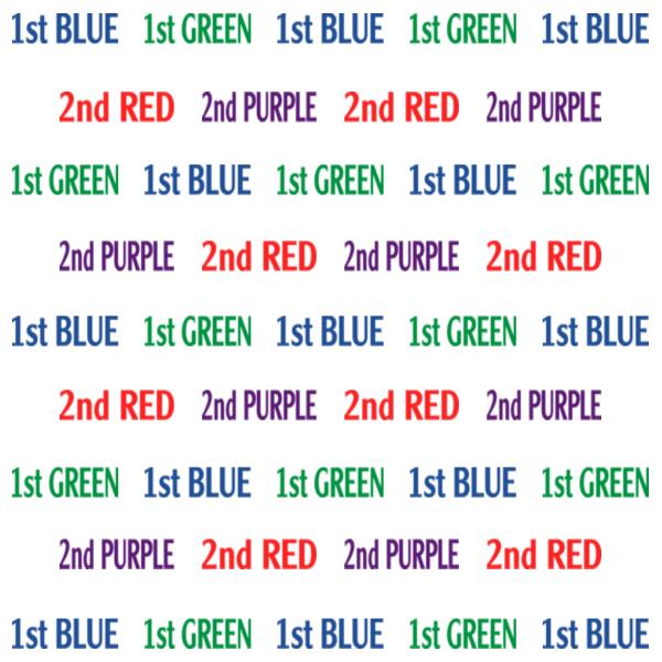 four color text