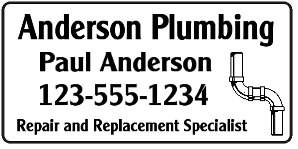 plumbing pipes sign layout