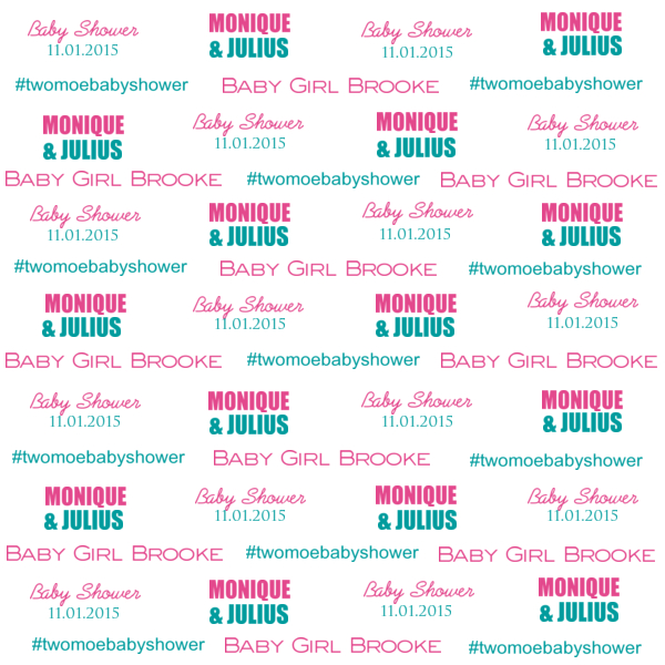custom step and repeat banner design for Baby Shower banner - pink and blue