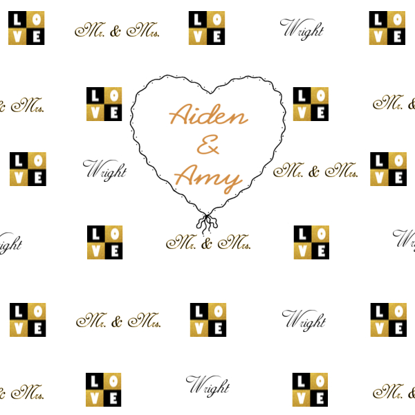 step and repeat design wedding