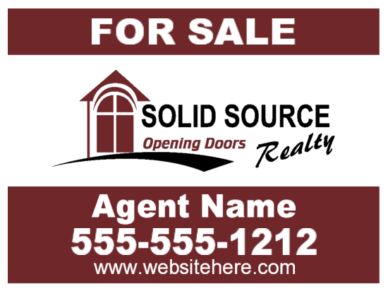 solid source sign 24x18