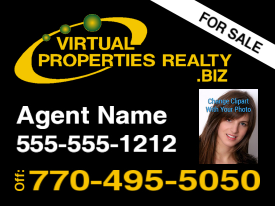 virtual properties biz sign black logo 2 photo 24x18 image