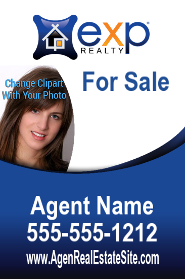 exp agent photo sign freefrom 24x36