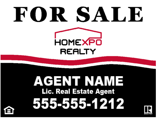 homexpo realty agent sign 24x18