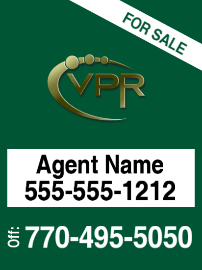 virtual properties sign photo 30x18 image