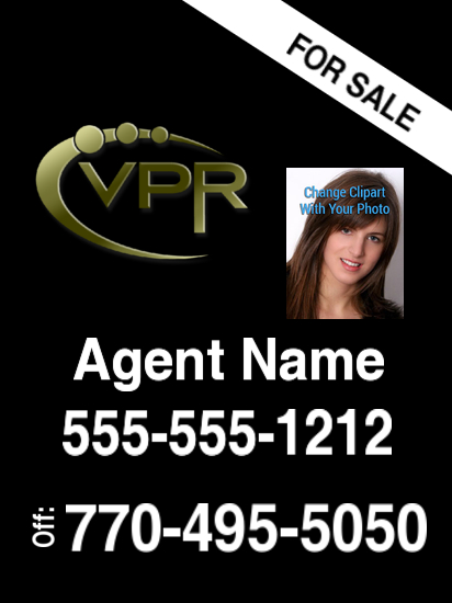 virtual properties sign black photo new 24x18 image