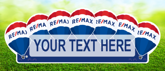 balloons cut shape remax real estate rider image