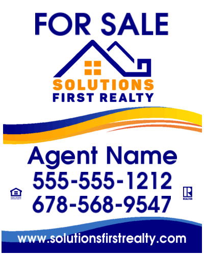 solutions first realty 24x30 sign image