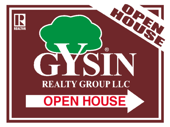 gysin realty directional sign 24x18