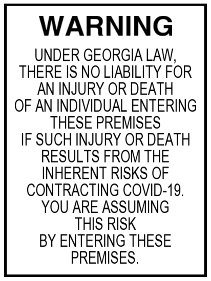 Georgia Senate Bill Covid-19 Pandemic Safety Act image