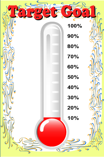 progress thermometer image