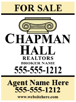 chapman hall yard sign 18x24 image
