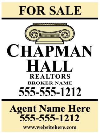 chapman hall yard sign 18x24 image
