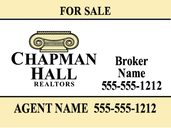 chapman hall yard sign 24x18 image