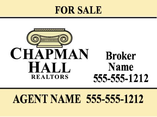 chapman hall yard sign 24x18 image
