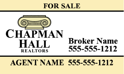 chapman hall atlanta ne yard sign image 30x18
