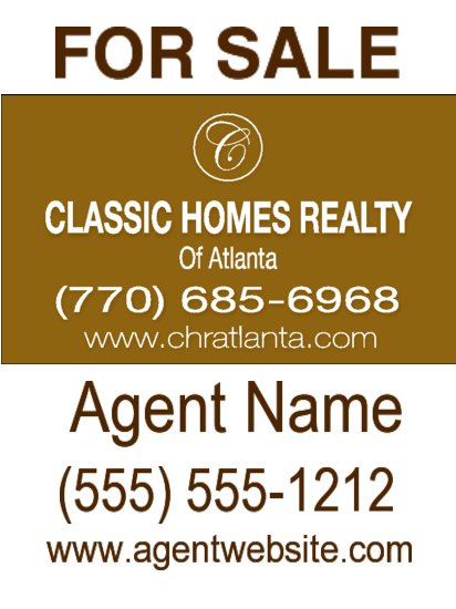 classic homes realty sign image