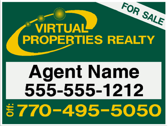 virtual properties sign 24x18 image
