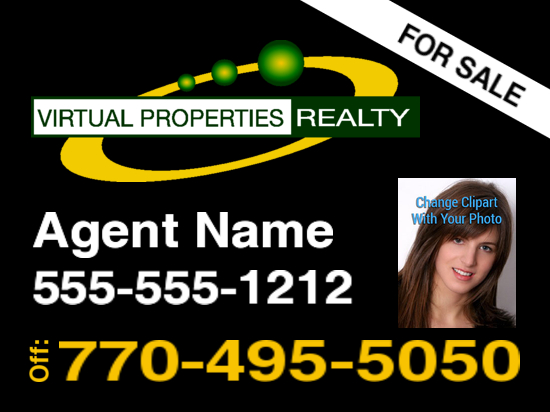 virtual properties sign black logo 2 photo 24x18 image