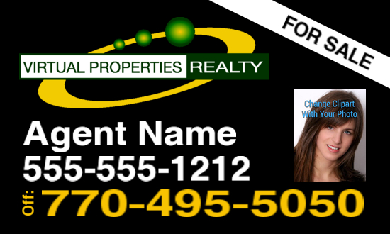 virtual properties sign black logo 2 photo 30x18 image