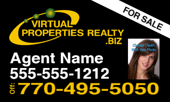 virtual properties  biz sign black logo 2 photo 30x18 image