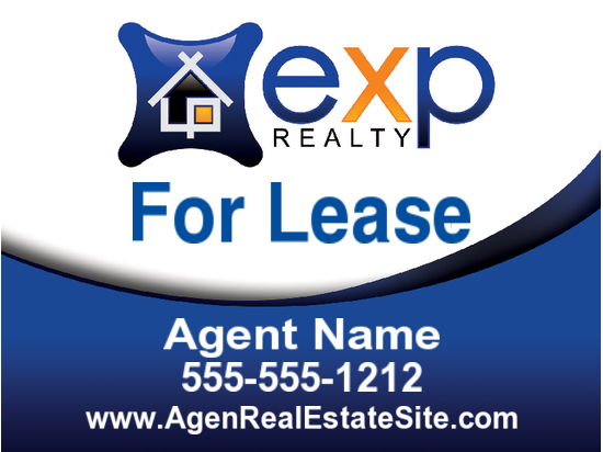 exp agent lease sign 24x18