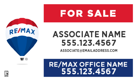 remax 30x18 For Sale agent sign