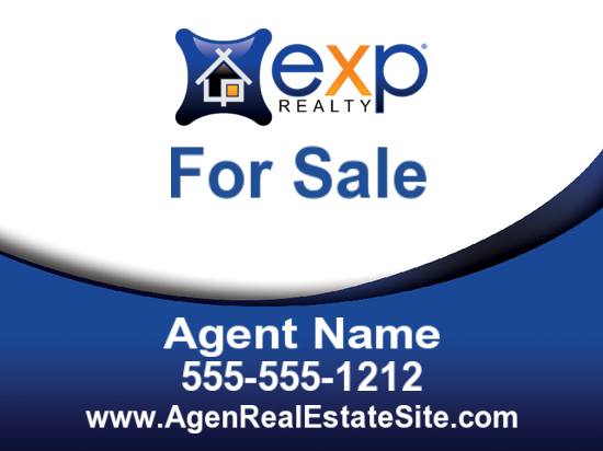 exp agent sign freeform 24x18