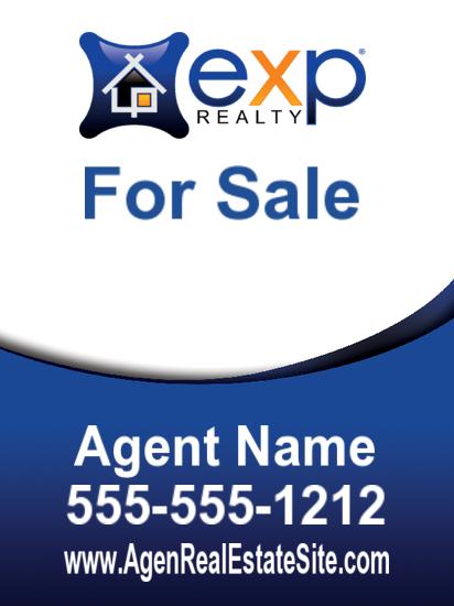 exp agent sign freeform 18x24