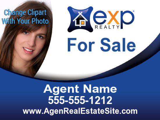 exp agent phto sign freeform 24x18