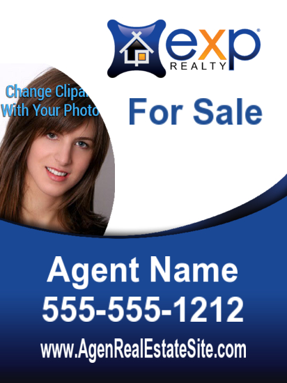 exp agent photo sign freeform 18x24