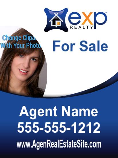 exp agent photo sign freeform 18x24