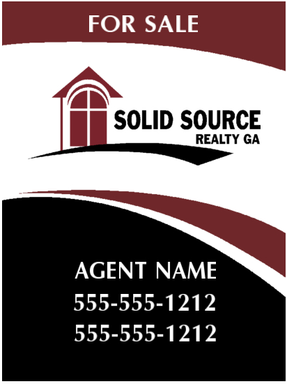 solid source realty sign 18x24