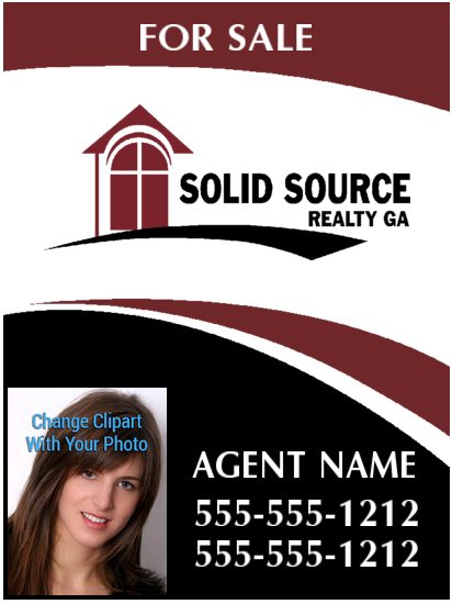 solid source realty sign 18x24 photo