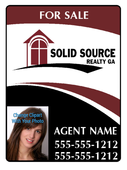 solid source realty photo sign 18x24