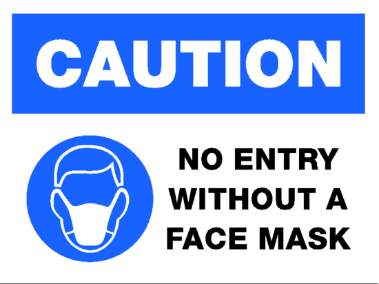 caution face mask image