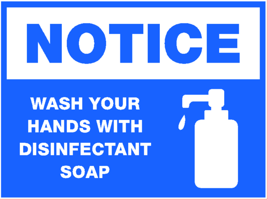 notice wash hands image